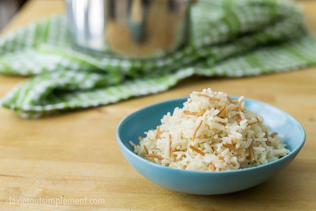Recette de riz libanais (comme chez Amir!) | lavietoutsilement.com #recette #riz
