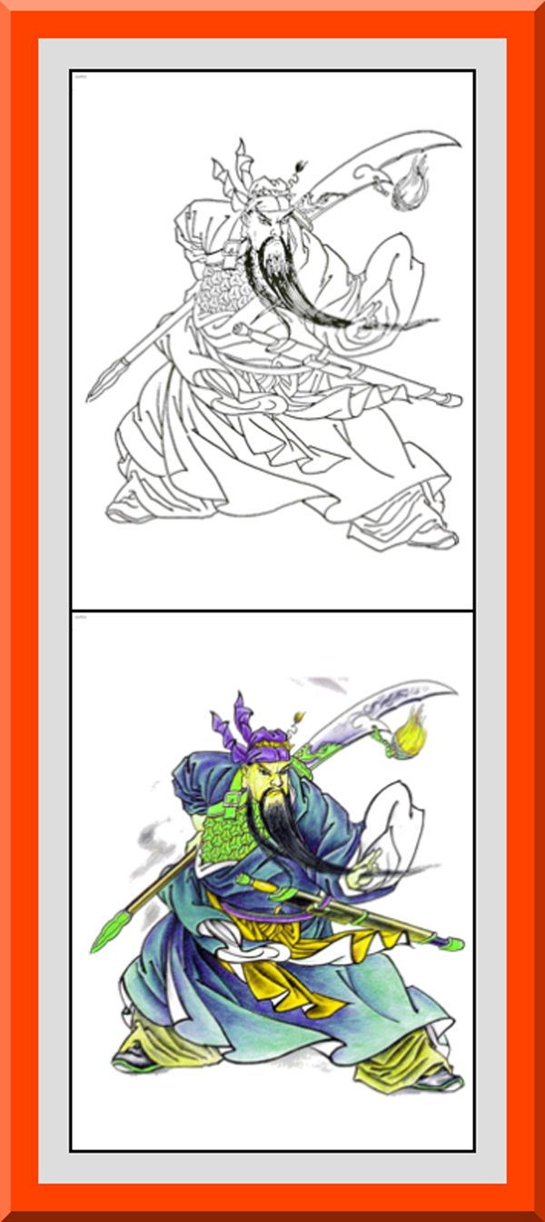 Coloring book outlines - Printable Samurai Designs Coloring Pages 30 High Definition Coloring Pages Black Outlines With Colored Examples This Japanese Samurai Coloring Page Is