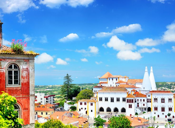 Sintra Sintra, Portugal sky outdoor building Town landmark City human settlement neighbourhood tourism vacation cityscape residential area white Village tower palace stone surrounded