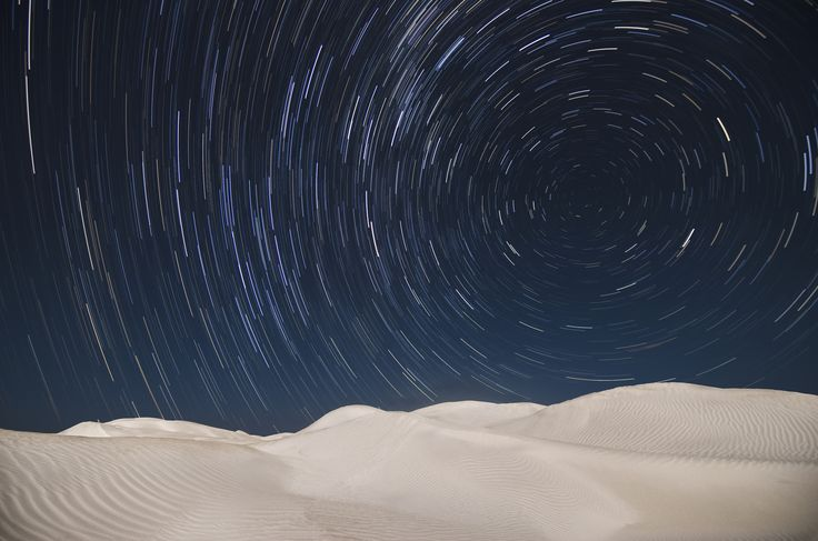 https://flic.kr/p/rBm442 | Star Trails - Nambung Sand Dunes | Nikon D5100 11mm 75 x 30 seconds f2.8 ISO400  The Nambung Desert is a short drive south of The Pinnacles near Cervantes in Western Australia. It's a small desert, about 6 square kms, of pure white sand dunes which are popular for sandboarding and dune buggies. Luckily the wind on this night was fairly light otherwise my camera equipment would have clogged with the very fine sand here. The dunes themselves can be huge, rising up to…