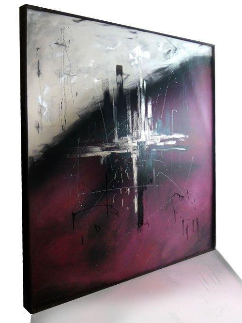 T cnica leo y acr lico con esp tula cuadros modernos for Cuadros minimalistas modernos