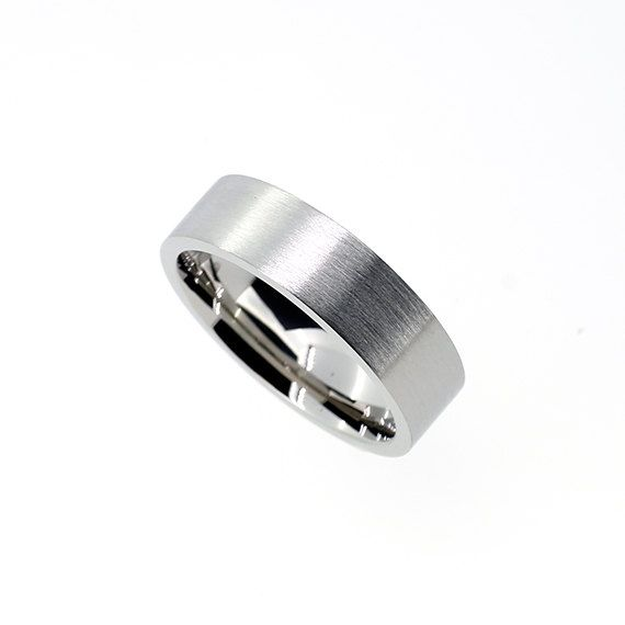 6mm wide Palladium wedding band Wide ring by TorkkeliJewellery