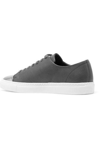 Axel Arigato - Metallic-trimmed Leather Sneakers - Dark gray - IT39