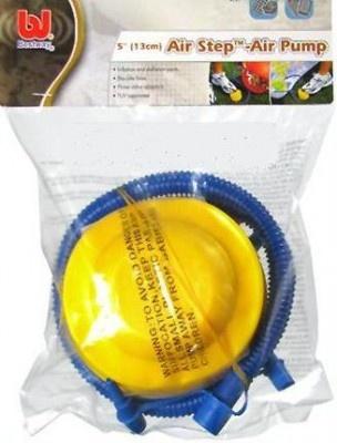 http://idealbebe.ro/bestway-pompa-de-picior-bestway-air-step-p-12007.html Dimensiune: 13 cm (5 inch) Volum aer: 500 cc Se foloseste pentru umflare/ dezumflare rapida Dotari: furtun flexibil, 3 adaptori pentru valve