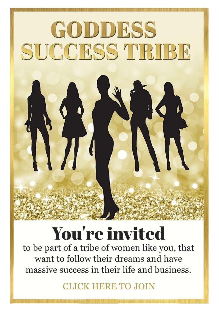 You're invited!   Click here to join: http://camillakristiansen.com/goddess-success-tribe/