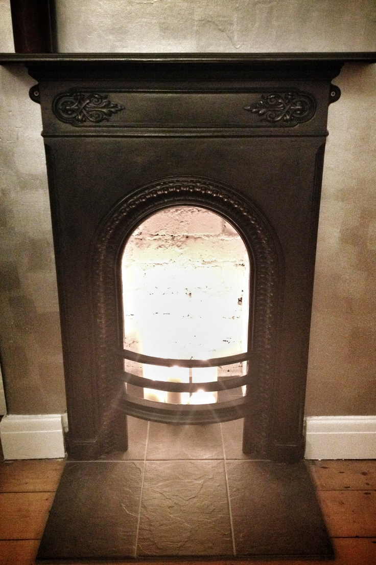Victorian style gas cast iron fireplace home amp garden home - Victorian Cast Iron Fireplace Detail No Hearth Candles Slate Directional Silver Metallic