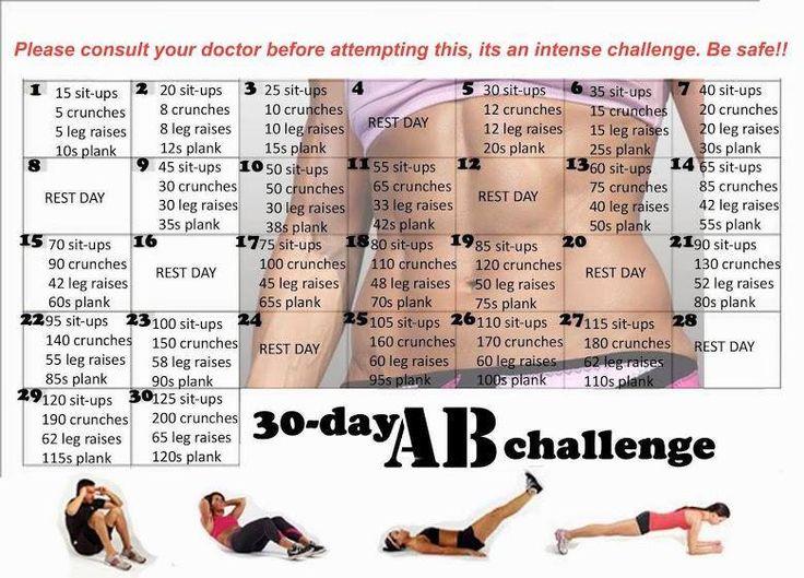30 day ab challenge | @Maureen Carolan Butterworth