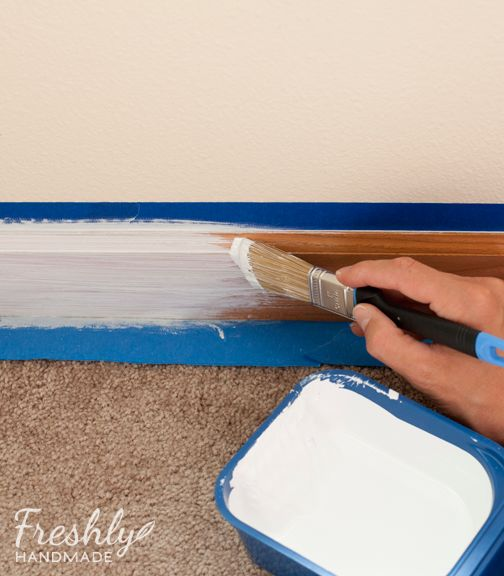 Freshly Handmade: Tutorial: A Beginner's Guide to Painting Wood Trim