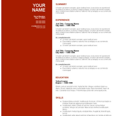 free cv template download httpwwwresumecareerinfofree - Free Resume Templates Downloads Word