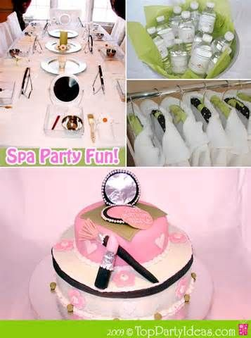 Her Teen spa party