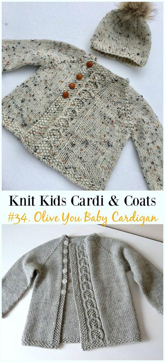 Kinder Strickjacke Free Knitting Patterns   – Crochet and Knitting