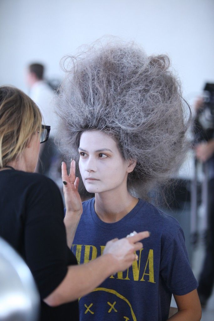 Backstage at Thom Browne RTW Spring 2014 [Photo by Todd Matarazzo]