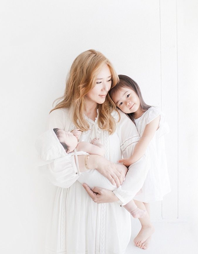 Newborn Mother and Daughter Photography in studio