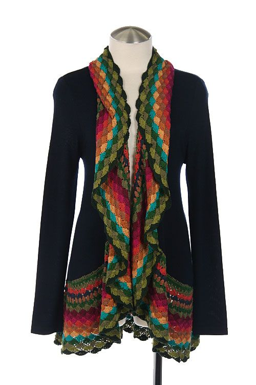 Navy colorful cardigan
