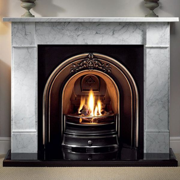 """Gallery Brompton 56"""" Cararra Marble Fireplace"""