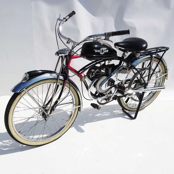 1950 Schwinn Motorized Whizzer Black Phantom Bicycle