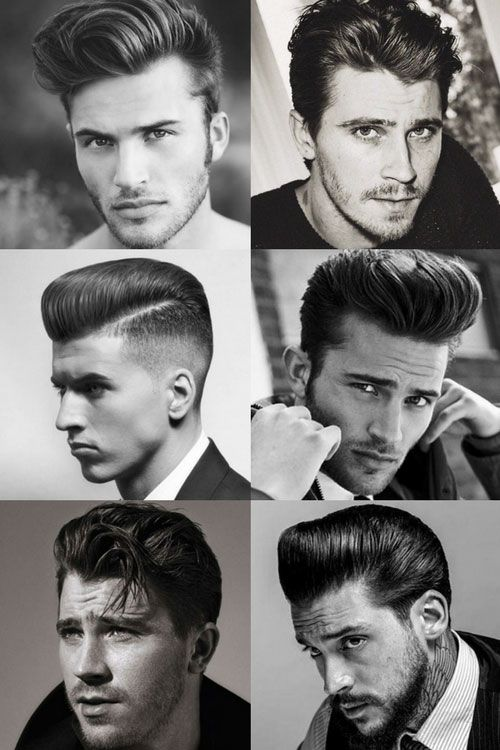 1950s Hairstyles For Men - Quiff and Pompadour Styles