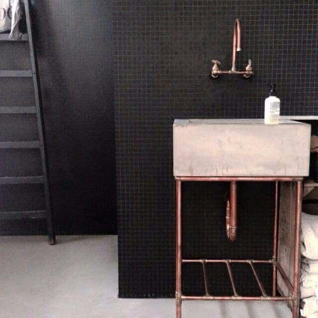 231 best bathrooms copper bronze brass images on pinterest bathroom bathrooms and bathroom - Cannon bullock wallpaper ...