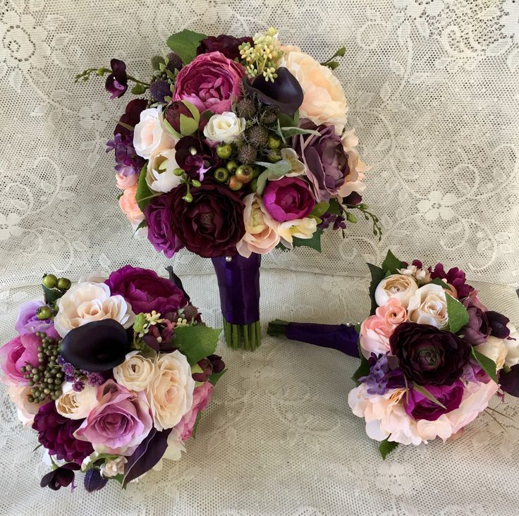 Wedding bouquet,plum purple bridal bouquet,silk wedding flowers,purple bridal flowers,wedding accessory,blush bridal bouquet,vintage wedding by DarlasBlooms on Etsy https://www.etsy.com/listing/520885923/wedding-bouquetplum-purple-bridal