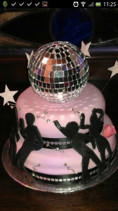 Disco Party Cake Images : 17 Best images about Disco cakes on Pinterest 70s party ...