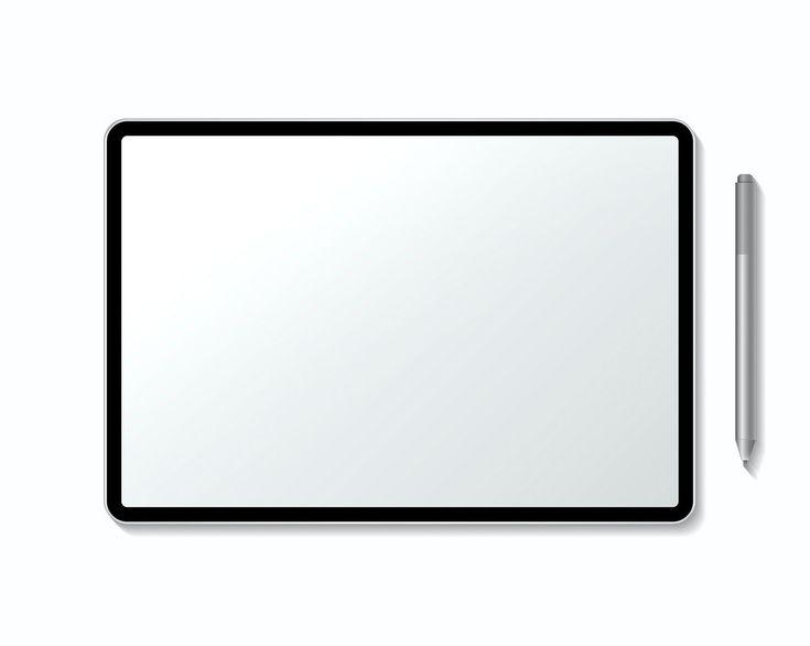 Blank digital tablet screen mockup free image by