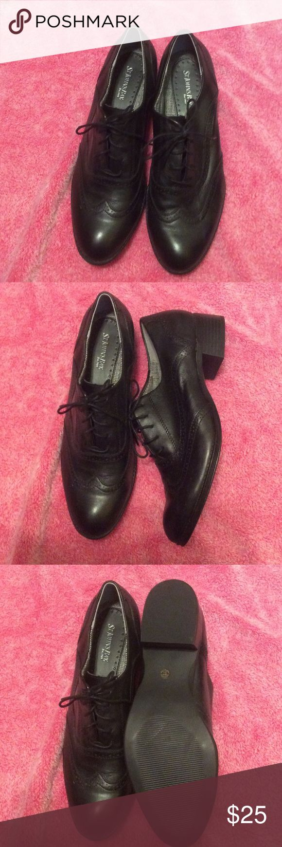 Ladies Cute Lace up Wing Tip Shoes Classy Wing Tip Ladies shoes.  Worn only in house once to try on.  Leather. St. Johns Bay Shoes