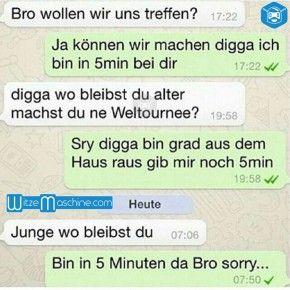 Lustige WhatsApp Bilder und Chat Fails 174 - Bin gleich da Bro