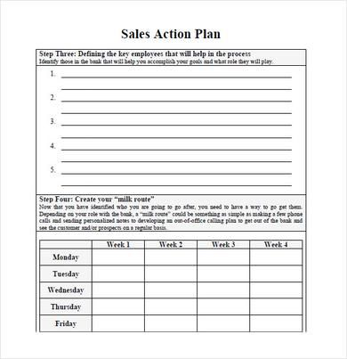 Sales Action Plan Pdf