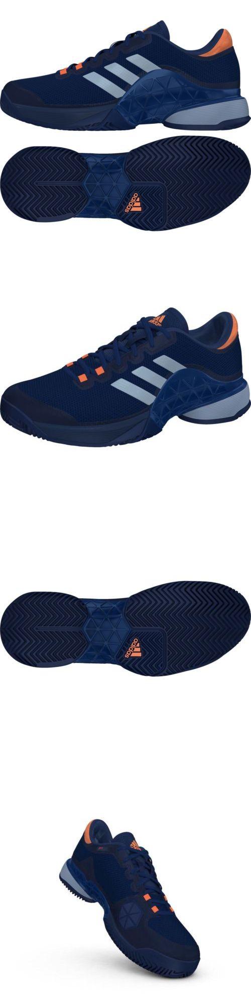 Shoes 62230: Adidas Barricade 2017 Men Blue Orange Ba9073 + Free Socks -> BUY IT NOW ONLY: $79.95 on eBay!