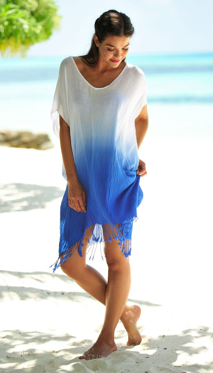 Coco Bay S Beautiful Seafolly Byron Cover Up In China Blue