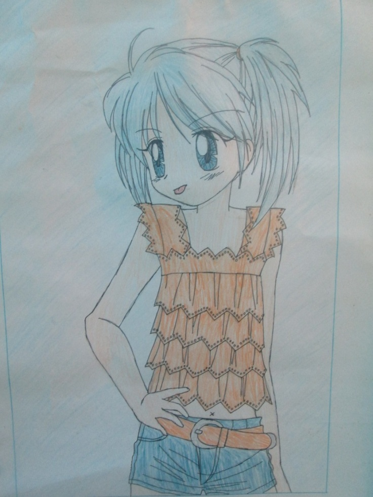 my drawing when I was a student in senior high school