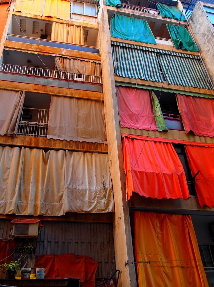 Lebanese balconies may look in disorder but colorful!