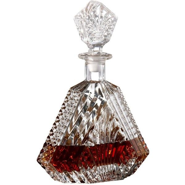 Wellington Collection Whiskey Decanter (135 BRL) ❤ liked on Polyvore featuring home, kitchen & dining, bar tools, fillers, drinks, food, food and drink, alcohol, entertaining and dining and beverage decanter