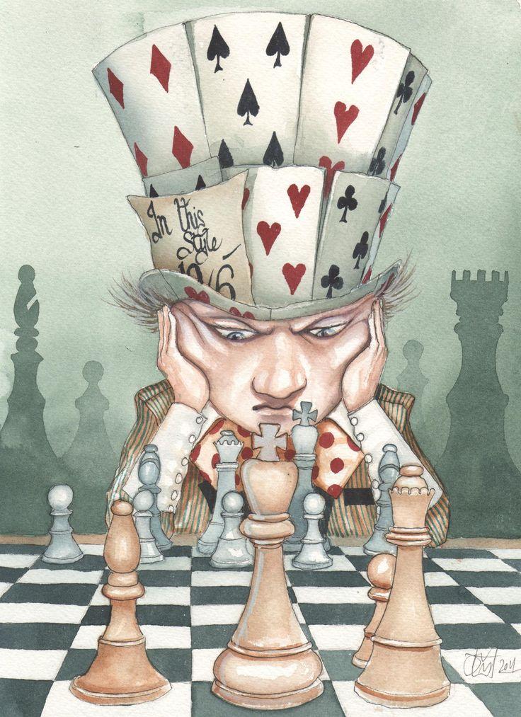 сделать шахматы из алисы в стране чудес картинка место хорошей