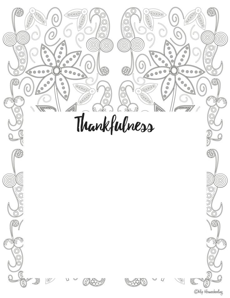 Free Gratitude Journal Template PLUS coloring page! (With