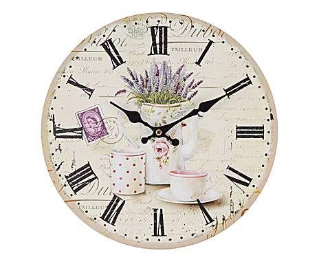 IL VIALE DELLE ROSE: Orologio da parete in legno Provence - D34 cm