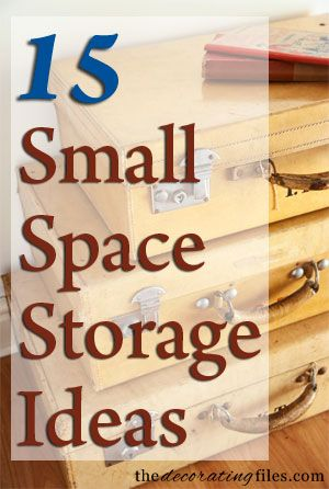 15 Small Space Storage Ideas. In a small space, storage is at a premium. These 15 creative ideas for small space storage will help you get the most storage out of your small space.
