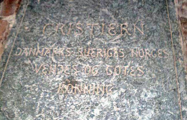 Christian's gravestone at Odense