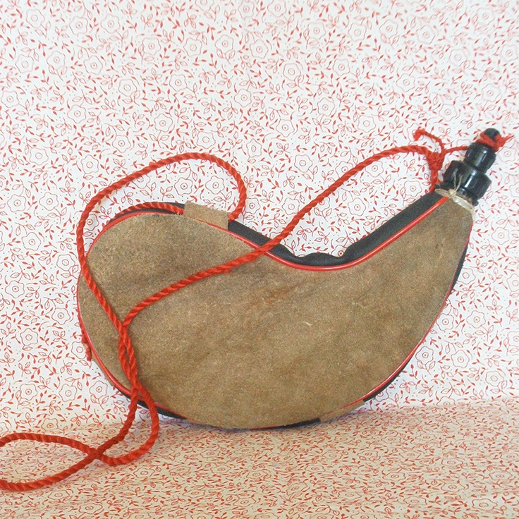 Vintage Leather Water Canteen