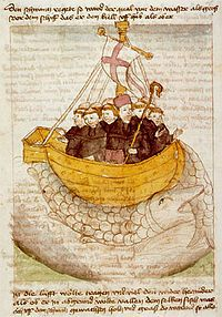 """Saint Brendan of Clonfert or Bréanainn of Clonfert (c. 484 – c. 577) (Irish: Naomh Breandán; Icelandic: Brandanus) called """"the Navigator"""", """"the Voyager"""", or """"the Bold"""" is one of the early Irish monastic saints. He is chiefly renowned for his legendary quest to the """"Isle of the Blessed,"""" also called St Brendan's Island. The Voyage of St Brendan could be called an immram (Irish navigational story). He was one of the Twelve Apostles of Ireland."""