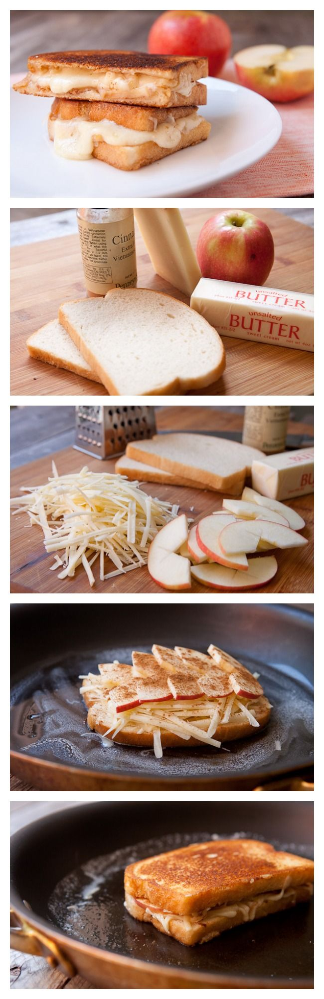 Apple Gruyere Grilled Cheese