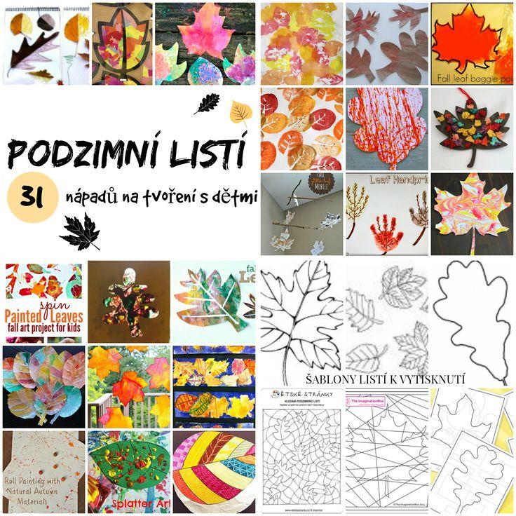 podzimní listí - nápady na tvoření s dětmi
