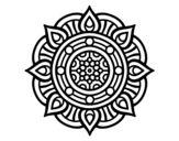 Dibujo de Mandala puntos de fuego para colorear