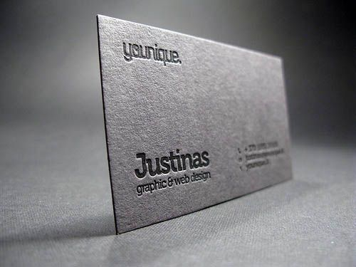 18 best black letterpress business cards images on Pinterest - letterpress business card