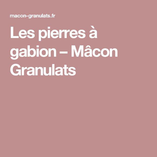 Les pierres à gabion – Mâcon Granulats
