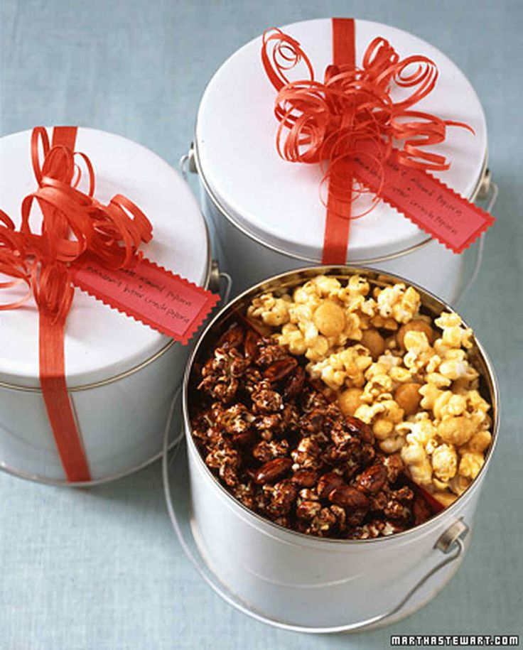 Popcorn Tins Martha Stewart Living Pack Two Kinds Of Homemade Flavored Popcorn Such