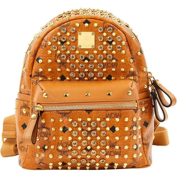Pre-owned Mcm Leather Backpack (15.048.135 VND) ❤ liked on Polyvore featuring bags, backpacks, camel, women bags backpacks, leather rucksack, real leather backpack, camel leather bag, mcm backpack and day pack rucksack