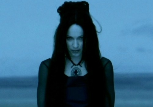 'Frozen' by Madonna. Another dark and gothic music video directed by Chris Cunningham sees a vampiric Madonna morph into a murder of crows in a spooky-sinister desert scene. A perfect marriage of sound and video! Click to watch it here  #madonna #video #music #frozen http://www.muzu.tv/madonna/frozen-stereo-mcs-mix-video-music-video/221826/