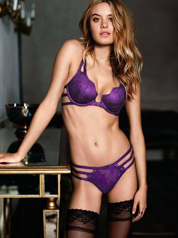 lingerie in purple