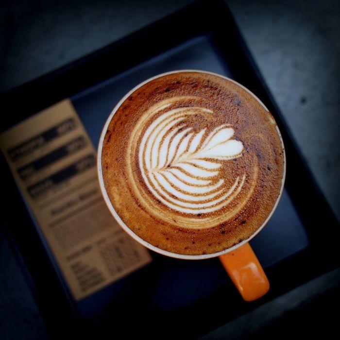 Photographie magnifique - design sur latte
